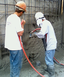 We have been in the gunite/shotcrete business since 1978