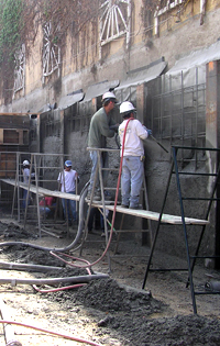 November of 1998 North County Gunite switched 100% of its operations to shotcrete